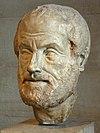 Busto de Aristóteles no Museu do Louvre.