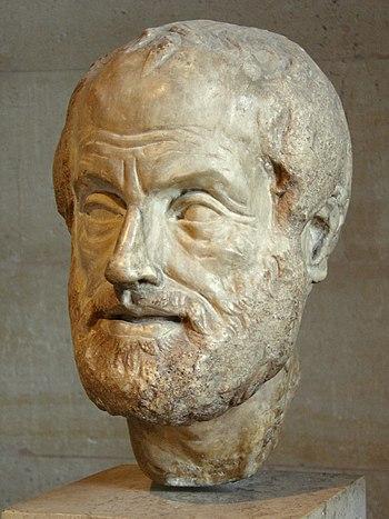 Portrait of Aristoteles. Pentelic marble, copy...