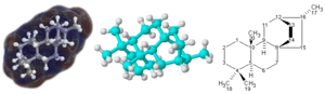 Three molecules. This image was originally upl...
