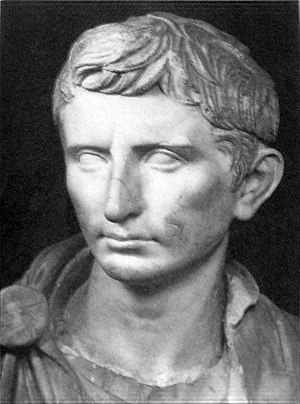 A statue of the first Roman Emperor Augustus (...