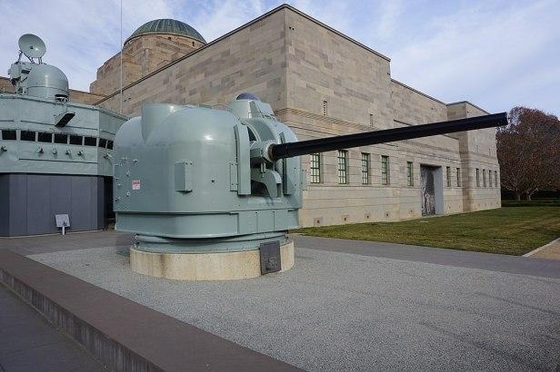 Australian War Memorial - Joy of Museums - HMAS Brisbane (D 41) Gun Mount