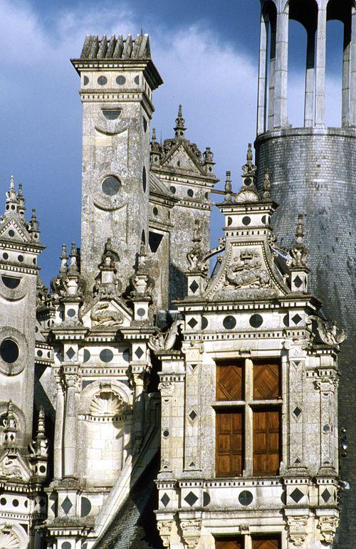 Château de Chambord - vue rapprochée d' une lucarne