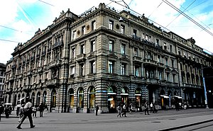 English: This is the Credit Suisse building on...