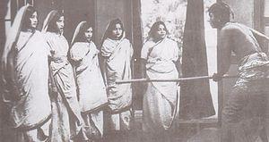 Scene from Dena Paona, 1931 - first Bengali Talkie