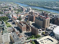 Downtown Albany as seen from the Corning Tower.