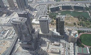This is a photo showing Dubai Media City in Du...