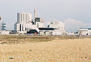 View of Dungeness B power Station in kent, UK
