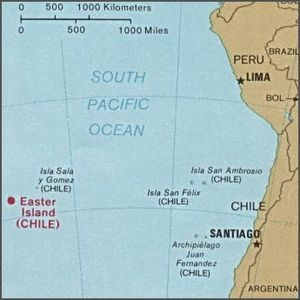 English: Easter Island and the islands between...