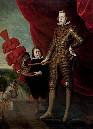 Philip IV with a dwarf (Palacio de Viana, Madrid)