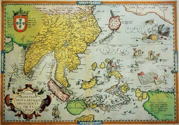 Map Of Asia Showing Singapore.Abraham Ortelius Map Of Southeast Asia Joy Of Museums