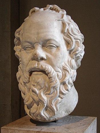 Portrait of Socrates. Marble, Roman artwork (1...