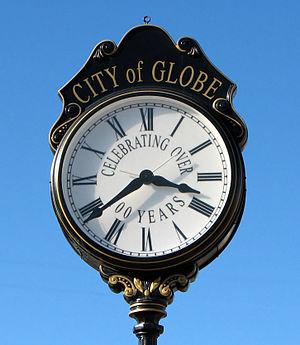 Street clock in Globe, Arizona, USA