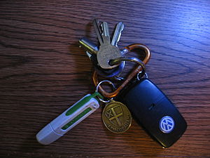 English: Sundry key fobs.