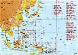 Pendaratan AS di Pasifik, Agustus 1942-Agustus 1945