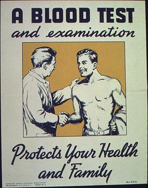 A blood test and examination - NARA - 513715