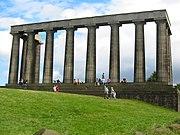"Monumento Nacional de Edimburgo. ""Atenas del Norte""."