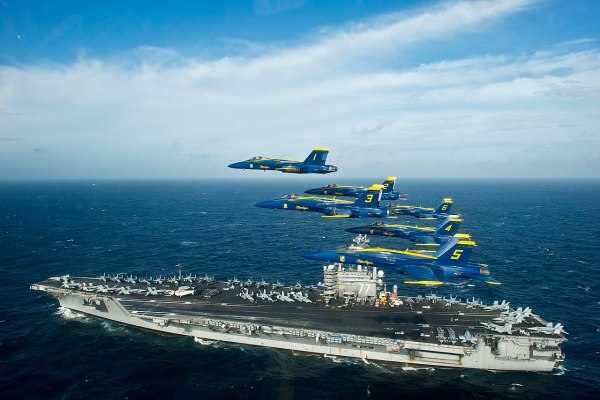 File:Blue Angels fly over USS George H.W. Bush ...