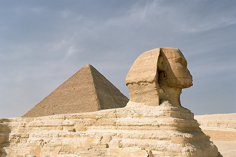 File:Cairo, Gizeh, Sphinx and Pyramid of Khufu, Egypt, Oct 2004.jpg