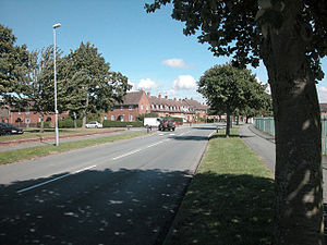 English: Chester suburb. Houses in Western Ave...