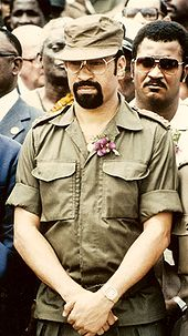Bouterse as the head of the military of Suriname in 1985
