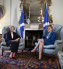 As Prime Minister, May visited Edinburgh to meet Nicola Sturgeon