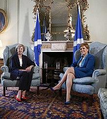 As Prime Minister, May visited Edinburgh to meet Nicola Sturgeon