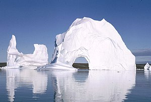 Photograph taken by myself of icebergs at Scor...