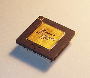 INMOS IMS T414B-G20S transputer chip.