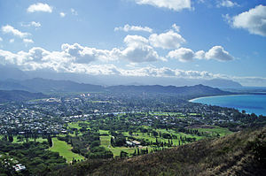 English: View of Kailua