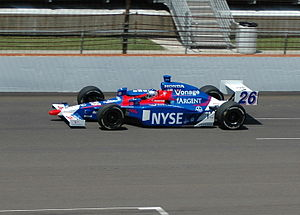 Marco Andretti practicing for the 2007 Indiana...