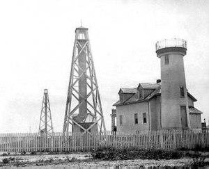 Nantucket Harbor Range Lights 1901 with 1856 B...