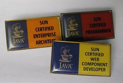 English: Sun certification badges once issued ...