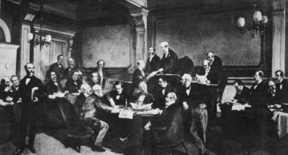 Firma del Primer Convenio de Ginebra.