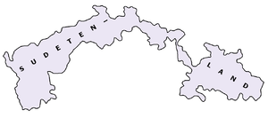 Map of the Sudetenland Reichsgau.