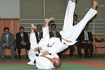 English: TOKYO. President Putin on a tatami at...