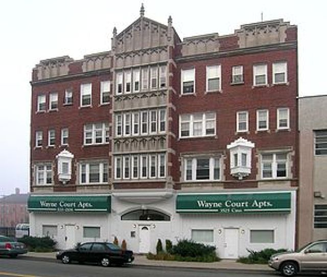 The Aderna Court Apartments Is A Tudor Revival Apartment Building Constructed In  And Designed By John Bergman It Is A Four Story Brick Building With