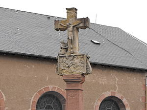 English: Crucifix Gerbépal. Français : Crucifi...
