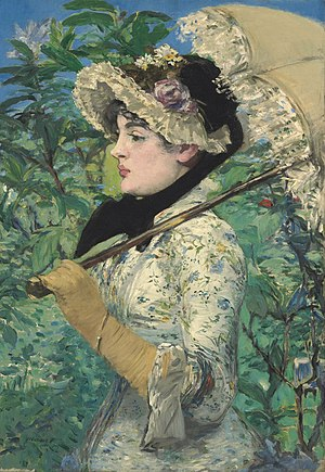 Woman with a parasol, by Édouard Manet, 1881.