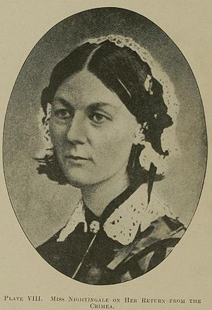 Illustration of Florence Nightingale