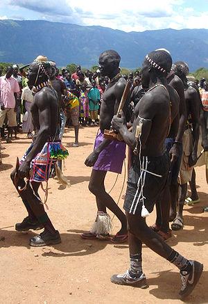 Peace agreement dancers in Kapoeta, Eastern Eq...