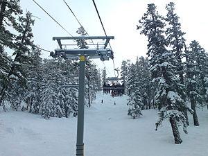 English: Powderbowl Express at Heavenly Ski Re...