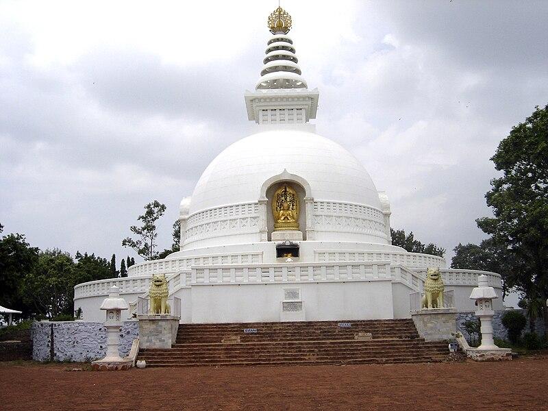 File:Shanti Stupa, Rajgir.jpg