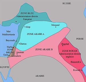 carte du découpage du Moyen-Orient suivant les...