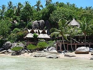 The south end of Sairee beach, Koh Tao, Thailand