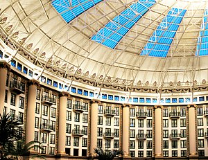 Inside the atrium at the West Baden Springs Hotel.