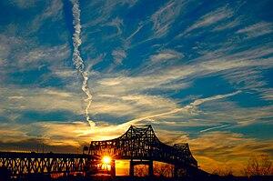 English: The Horace Wilkinson Bridge in Baton ...