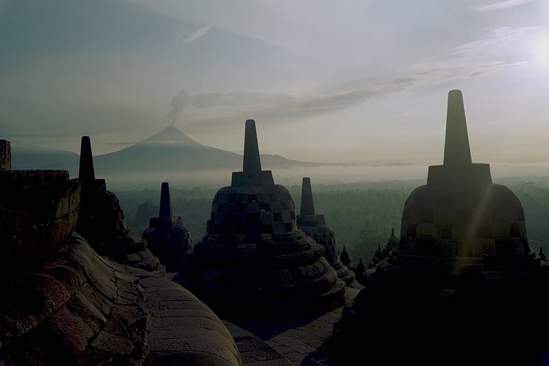 File:Borobudur Stupa Merapi.jpg