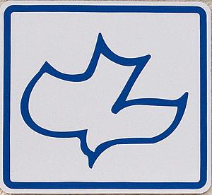 English: The Calvary Chapel Logo - the dove, r...