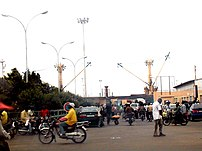 Traffic around Cotonou, Benin port