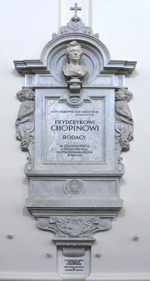 Epitaph for heart of Frédéric Chopin in Holy C...
